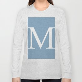 Letter M sign on placid blue background Long Sleeve T-shirt