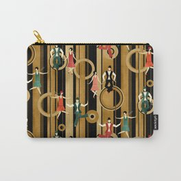 Art Deco Charleston Dancers Pattern Carry-All Pouch