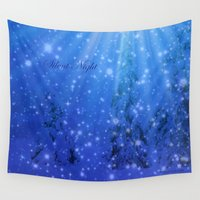 silent Wall Tapestries featuring Silent Night by Alaskan Momma Bear