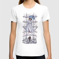 hallion T-shirts featuring Leia's Corruptible Mortal State by Karen Hallion Illustrations