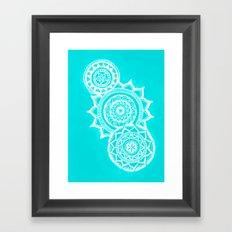 The blue mandalas Framed Art Print