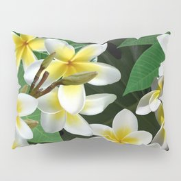 Plumeria Flowers Pillow Sham