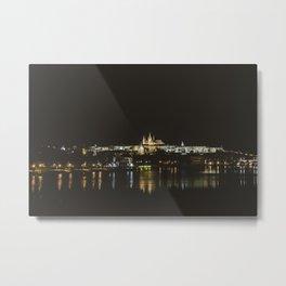 Cityscape at night. || Prague, Praha. || Night Photography. || European. || Panorama Metal Print