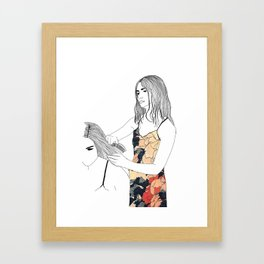 Space Surburbia Framed Art Print