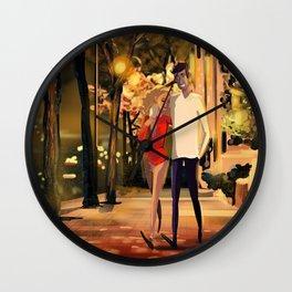 Romantic date Wall Clock