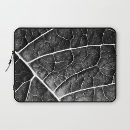 LEAF STRUCTURE no2a BLACK AND WHITE Laptop Sleeve