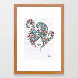 365 cabelos - dots Framed Art Print