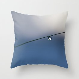 one simple drop Throw Pillow