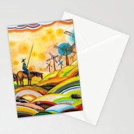 Don Quixote de La Mancha and Sancho Panza Stationery Cards