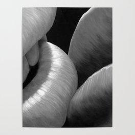 Kissing Lips black&white - Erotic Art Illustration Sex Sexual Love Lovers Relationship Couple Kiss Poster