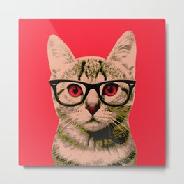 Warhol Cat 4 Metal Print