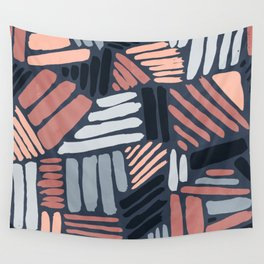 Dots and Lines - Strokes 1 Wall Tapestry