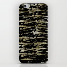 Chic Gold Black Abstract iPhone & iPod Skin