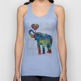 Colorful Elephant Art - Elovephant - By Sharon Cummings Unisex Tank Top
