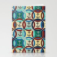 anchors Stationery Cards featuring anchors by Sharon Turner