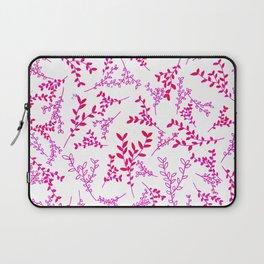 Pink Leaves Pattern Laptop Sleeve