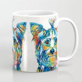 Colorful Yorkie Dog Art - Yorkshire Terrier - By Sharon Cummings Coffee Mug