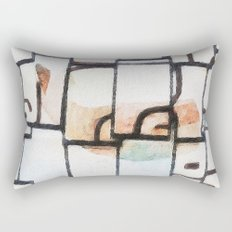 whale in reflection Rectangular Pillow