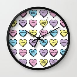 Baesic Candy Hearts - Mexican Food Wall Clock
