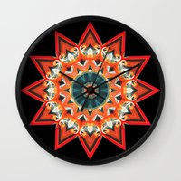 southwest Wall Clocks featuring Southwest Kaleidoscope  by North 10 Creations
