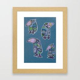 4 doodlebirds Framed Art Print