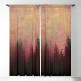 Repose, Abstract Landscape Trees Sky Blackout Curtain