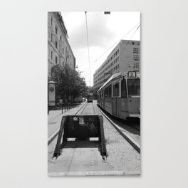 Budapest's Trams Canvas Print