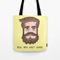 beard Tote Bags featuring Beard by My Big Fat Brand