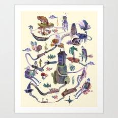 the MAP Art Print