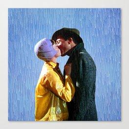 Singin' in the Rain - Blue Canvas Print