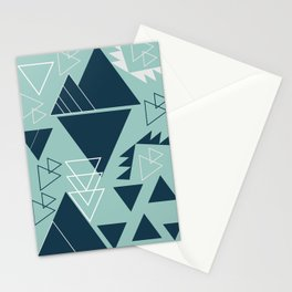 Geometric leftovers in blue Stationery Cards