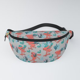 PICKING CACTUS -gray Fanny Pack