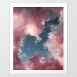 Cotton candy clouds. Art Print