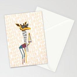 Hipster Giraffe Stationery Cards