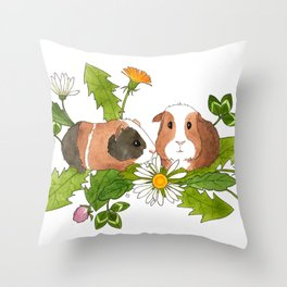Guinea Pigs Throw Pillow