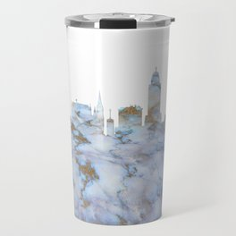 Lincoln Nebraska Skyline Travel Mug