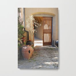 Spring Light in Tuscany Metal Print