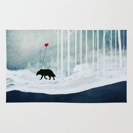 WOLF - A Love Always Carried  Rug