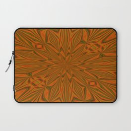 Autumnal Leaves Red Green and Amber Abstract Kaleidoscope Laptop Sleeve