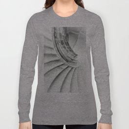 Sand stone spiral staircase 009 Long Sleeve T-shirt