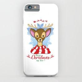 Merry Christmas My Deer - Cute Reindeer Design iPhone Case