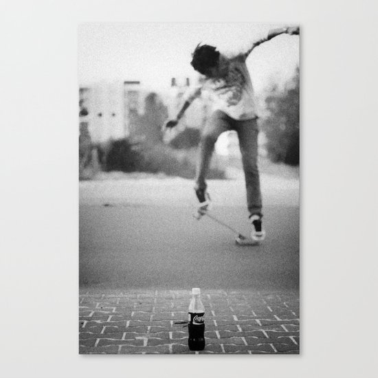 Coke & Skate Canvas Print