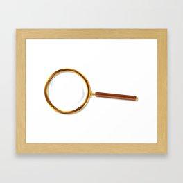 Brass Magnifying Glass Framed Art Print