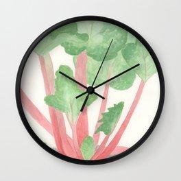 Red Rhubarb Wall Clock