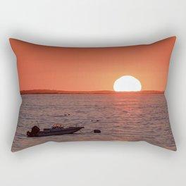 Plum Cove Beach Sunset 7-11-18 Rectangular Pillow
