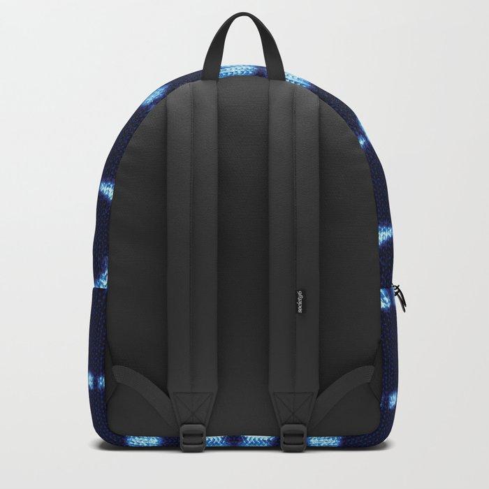 Tie-Dye Boho Knit Backpack