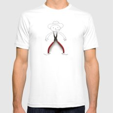 Cowboy MEDIUM Mens Fitted Tee White