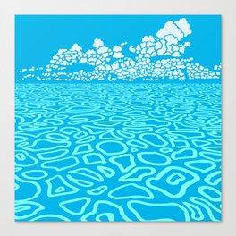 Tropical Ocean by Black Dwarf Designs Canvas Print