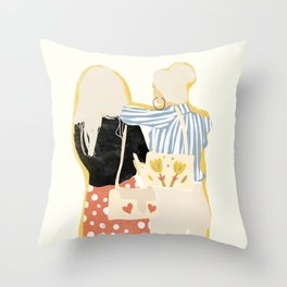 Fashion Friends Throw Pillow