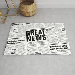 The Good Times Vol. 1, No. 1 / Newspaper with only good news Rug